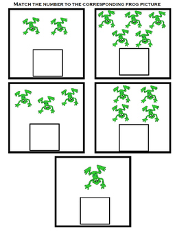 5 Green and Speckled Frogs Interactive Song with Homework