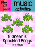 5 Green and Speckled Frogs - Song Pieces