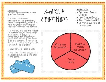 5-Group Spinomino (First Grade Addition Game)