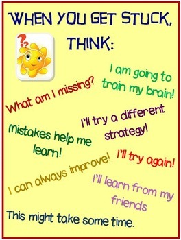 5 Growth Mindset Posters for Daily Positive Reinforcement! Grades 1st thru 5th