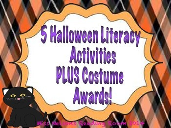 5 Halloween Literacy Center Activities PLUS Costume Awards!