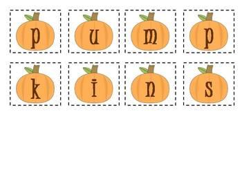 5 Halloween Making Words Activities