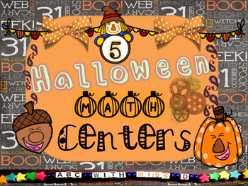 5 Halloween Math Centers- Math Activities, Puzzles, Games, Worksheets
