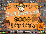 5 Halloween Math Centers- Math Activities, Puzzles, Games,
