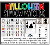 5 Halloween shadow matching activities