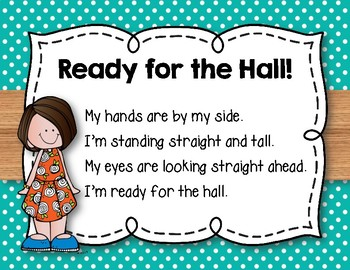 5 Hallway Posters for Classroom Management - in 2 Colors & Black/White