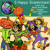 5 Happy Scarecrows