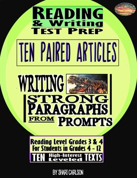 5 Articles Paired = 10 Articles for Reading & Writing Test Prep