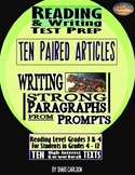 SBAC Reading & Writing Test Prep & Guide  ~5 Articles Pair
