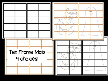 5 Holiday Ten Frames- Number Cards , Mats, Counters!