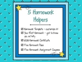 5 Homework Helpers to Encourage Great Work Habits
