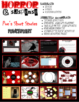 5 Horror Stories + 7 Extension Activities PowerPoint (Common Core Aligned)