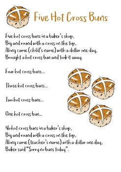 5 Hot Cross Buns