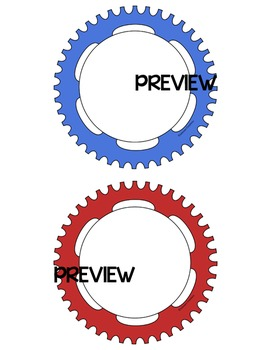 5 Inch Gears and Gears Labels