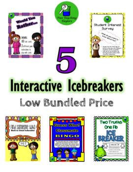 5 Interactive Icebreakers Low Bundled Price