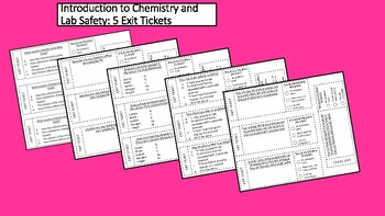 5 Introduction to Chemistry Exit Tickets