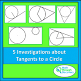 Geometry - 5 Investigations about Tangents to a Circle