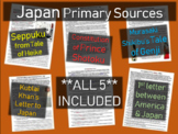 5 Japan Primary Sources: Tale of Genji, Seppuku, Shotoku, Mongol Invasion & more