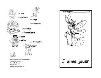 5) J'aime jouer- livret de lecture ENFANT C1 M et 1ère