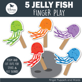 5 Jelly Fish Finger Play including PDF Patterns