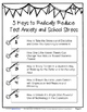 5 Keys to Radically Reduce Test Anxiety and School Stress