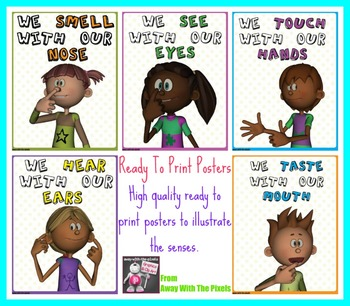 5 Kids Senses Posters - Ready to Print!