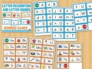 Kindergarten Math and Reading Dominoes Games