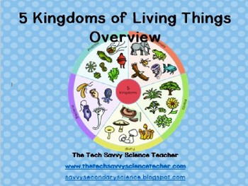 5 Kingdom Overview (Classification) Powerpoint notes