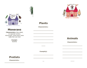 5 Kingdoms of Life Booklet