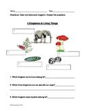 5 Kingdoms of Life Worksheet