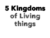 5 Kingdoms of Living Things Posters
