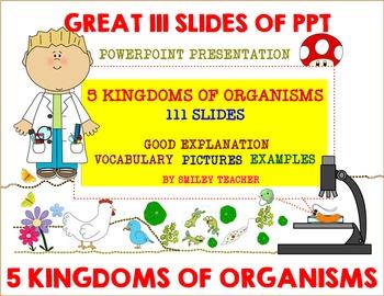 Five Kingdoms of Living Organisms Power Point Presentation PPT