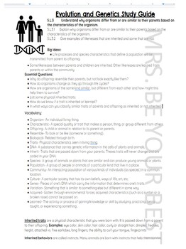 5.L.3 Genetics Study Guide English