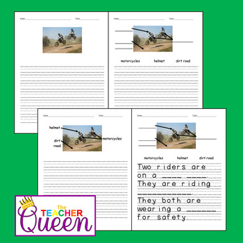 5 Land Transportation No-prep, Differentiated Picture Prompts for Writing