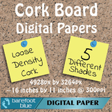 5 Large Grain Cork Board Backgrounds Digital Papers High R