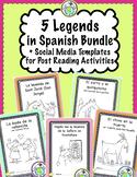5 Legends and Folktales in Spanish Bundle Printable Minibooks
