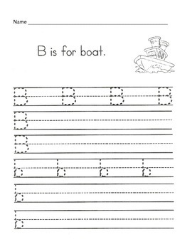 5 Letter B Worksheets  / Alphabet & Phonics Worksheets / Letter of the Week