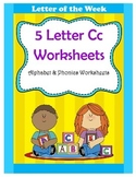 5 Letter C Worksheets / Alphabet & Phonics Worksheets / Letter of the Week