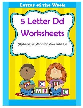 5 Letter D Worksheets / Alphabet & Phonics Worksheets / Letter of the Week