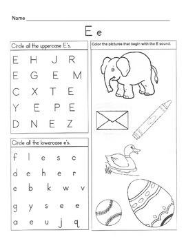 5 Letter E Worksheets / Alphabet & Phonics Worksheets / Letter of ...