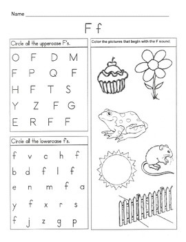 5 Letter F Worksheets / Alphabet & Phonics Worksheets / Letter of ...
