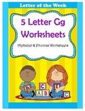 5 Letter G Worksheets / Alphabet & Phonics Worksheets / Letter of the Week