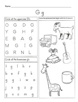5 Letter G Worksheets / Alphabet & Phonics Worksheets / Letter of the Week