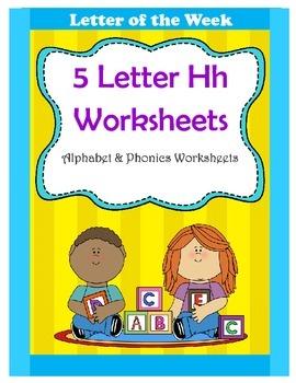 5 Letter H Worksheets / Alphabet & Phonics Worksheets / Letter of the Week