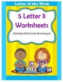 5 Letter I Worksheets / Alphabet & Phonics Worksheets / Letter of the Week