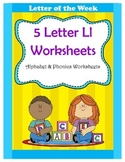 5 Letter L Worksheets / Alphabet & Phonics Worksheets / Letter of the Week