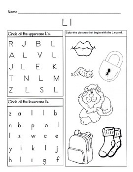 Letter L Worksheets Alphabet & Phonics Worksheets Letter of