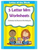 5 Letter M Worksheets / Alphabet & Phonics Worksheets / Letter of the Week