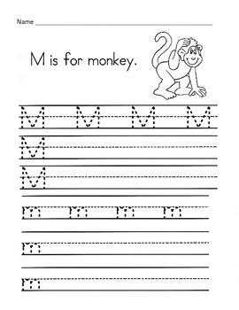 5 Letter M Worksheets / Alphabet & Phonics Worksheets / Letter of the Week