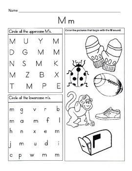 5 Letter M Worksheets / Alphabet & Phonics Worksheets / Letter of ...